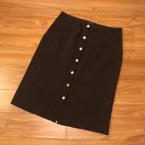 Brooks brother merino wool button front skirt Sz L